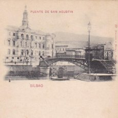 Cartoline: BILBAO PUENTE SAN AGUSTIN. ED. HAUSER Y MENET Nº 29. REVERSO SIN DIVIDIR. VER REVERSO. Lote 286733088