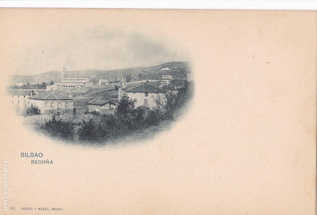 BILBAO, BEGOÑA. ED. HAUSER Y MENET Nº 17. REVERSO SIN DIVIDIR. SIN CIRCULAR (Postales - España - País Vasco Moderna (desde 1940))