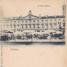 Cartes Postales: VITORIA, PLAZA NUEVA. ED. HAUSER Y MENET Nº 306. REVERSO SIN DIVIDIR. SIN CIRCULAR. VER REVERSO. Lote 286780958