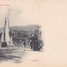 Cartes Postales: BILBAO, MUELLE DEL ARENAL. ED. HAUSER Y MENET Nº 218. REVERSO SIN DIVIDIR. SIN CIRCULAR. VER REVERSO. Lote 286781453