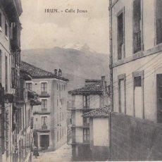 Cartoline: IRUN, CALLE JESUS. ED. E.J.G. PARIS IRUN. CIRCULADA EN 1910. Lote 286878153