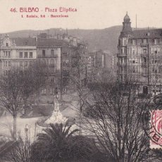 Cartoline: BILBAO, PLAZA ELIPTICA. ED. FOTO ROISIN Nº 46. CIRCULADA EN 1931. Lote 286879748