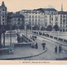 Cartoline: BILBAO, PUENTE DE LA MERCED. ED. HELIOTIPIA ARTISTICA ESPAÑOLA Nº 7. SIN CIRCULAR. Lote 286880088