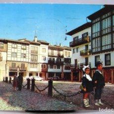 Postales: POSTAL FUENTERRABIA PLAYA DEL VICARIO NIÑOS VASCOS FUERTES 1976 CIRCULADA SELLO 1988. Lote 287899998