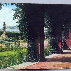Postales: POSTAL BILBAO PASEO DE LA PÉRGOLA EN EL PARQUE GARCÍA GARRABELLA ESCRITA 1971. Lote 287901288