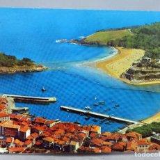 Postales: POSTAL LEQUEITIO PUERTO Y PLAYA VISTA AÉREA EDICIONES ALARDE FOTO PAISAJES ESPAÑOLES ESCRITA. Lote 287906713