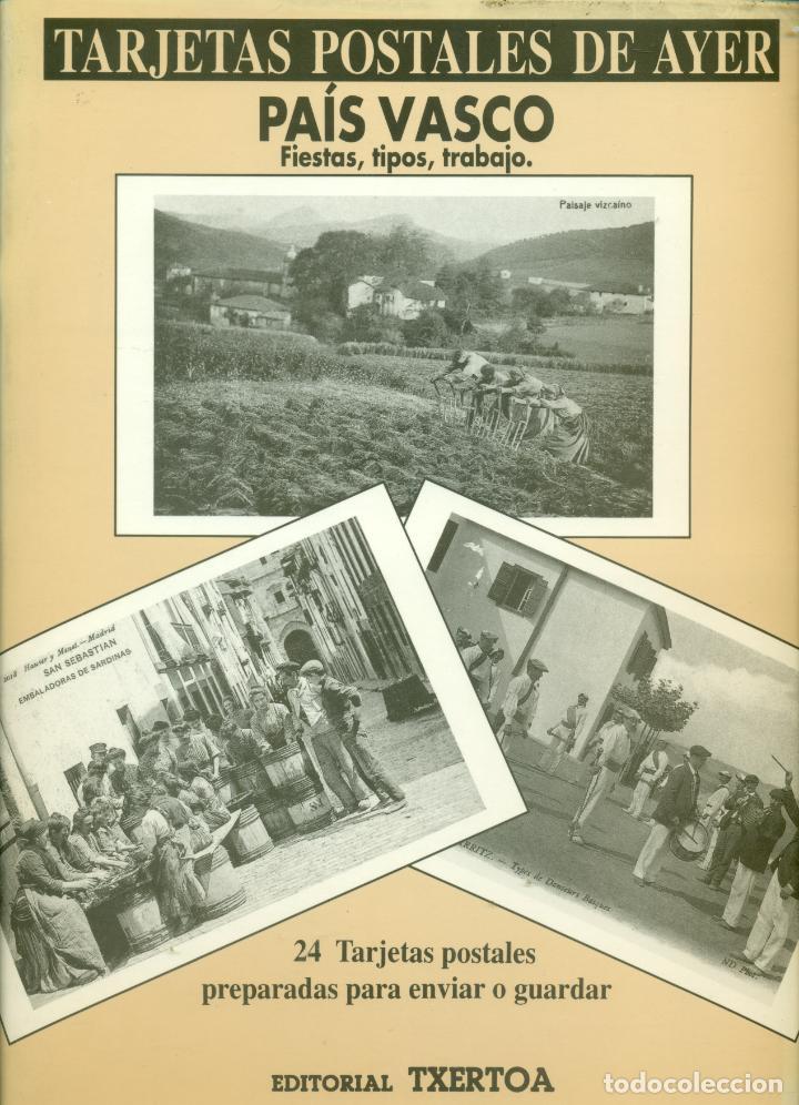 COLECCION DE 24 POSTALES DEL PAIS VASCO AYER EDICION DE EDITORIAL TXERTOA (Postales - España - Pais Vasco Antigua (hasta 1939))