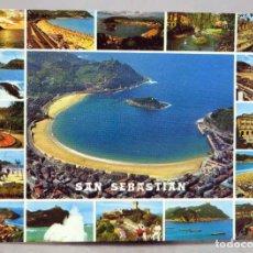 Postales: POSTAL SAN SEBASTIÁN 17 VISTAS MANIPEL AÑOS 70 SIN CIRCULAR. Lote 288039323