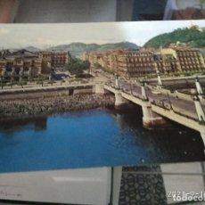 Postales: POSTAL SAN SEBATIAN PUENTE KURSAAL / CIRCULADA SELLO FRANCO 1964. Lote 288409538