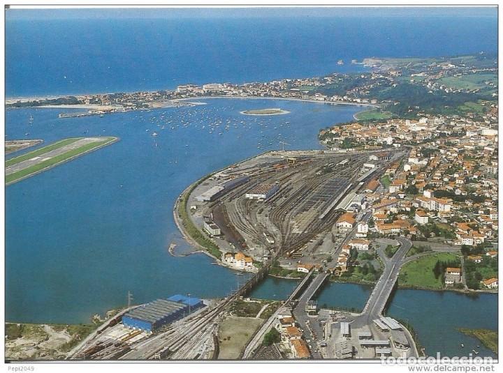 *** D687 - POSTAL - IRUN - PUENTES INTERNACIONALES - AL FONDO HENDAYA (Postales - España - País Vasco Moderna (desde 1940))