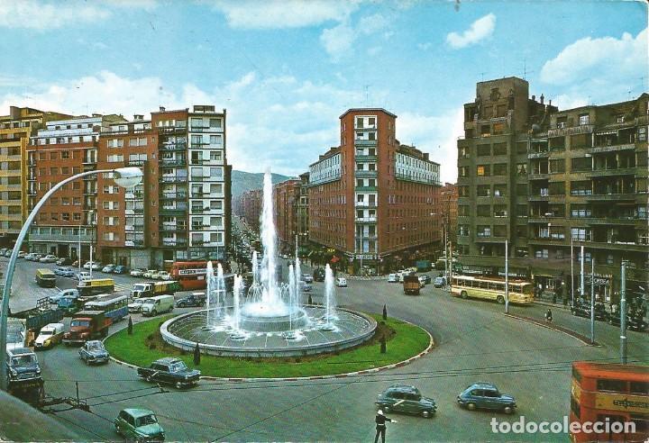 [POSTAL] FUENTE MONUMENTAL DE LA PLAZA ZABÁLBURU. BILBAO (SIN CIRCULAR) (Postales - España - País Vasco Moderna (desde 1940))