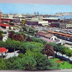 Postales: POSTAL SANTURCE ZONA PUERTO TREN EXCLUSIVAS CAYETANO CIRCULADA SELLO 1977. Lote 288659533