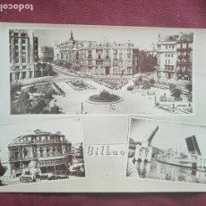Postales: BILBAO. PUBLICIDAD AL DORSO PAPELERÍA CLIPER. Lote 289568113