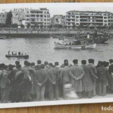 Postales: FOTOGRAFIA DE PORTUGALETE, REGATAS DE TRAINERAS EN 1944, MIDE 9,8 X 6,5 CMS.. Lote 290020683