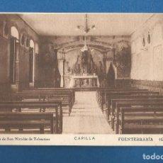 Cartoline: POSTAL SIN CIRCULAR FUENTERRABIA (GUIPUZCOA) COLEGIO SA NICOLASS DE TOLENTINO CAPILLA EDITA VALVERDE. Lote 292541798