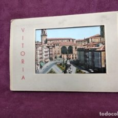 Cartoline: ANTIGUO LIBRITO CON 10 POSTALES EN ACORDEÓN DE VITORIA, G. GARRABELLA. Lote 293363248