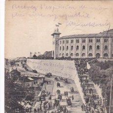 Postales: SAN SEBASTIAN, PLAZA DE TOROS. ED. HAUSER Y MENET Nº 1494. REVERSO SIN DIVIDIR. CIRCULADA EN 1905. Lote 294438513