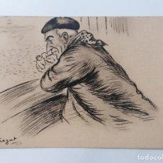 Postales: POSTAL 360, PAIS VASCO, MARINERO CONTEMPLANDO EL MAR, DIBUJO SEGANT 1925. Lote 296596273