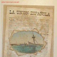 Postales: TARJETA DE PUBLICIDAD DEL DIARIO LA UNION ESPAÑOLA. Lote 12668712