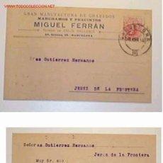 Postales: TARJETA POSTAL DE MANUFACTURA DE GRABADOS,MIGUEL FERRAN,BARCELONA.28/08/1912. Lote 13606759