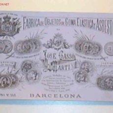 Postales: TARJETA DE PUBLICIDAD ANTIGUA DE LA FABRICA DE OBJETOS DE GOMA ELASTICA Y ASBESTOS.... Lote 26956028
