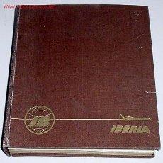 Postales: PLATOS TIPICOS DE LA GASTRONOMIA ESPAÑOLA- PUBLICIDAD DE IBERIA - EN 4 IDIOMAS . CON POSTALES CON P. Lote 27017704