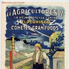 Postales: POSTAL 17 PUBLICIDAD COHETES GRANIFUGOS ESPINOS REUS TARRAGONA. Lote 175662460