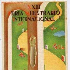 Postales: POSTAL 58 PUBLICIDAD FERIA MUESTRAS VALENCIA 1945. Lote 26457949