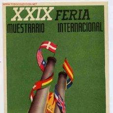 Postales: POSTAL 67 PUBLICIDAD FERIA MUESTRAS VALENCIA 1951. Lote 26410681