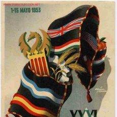 Postales: POSTAL 70 PUBLICIDAD FERIA MUESTRAS VALENCIA 1953. Lote 26479445