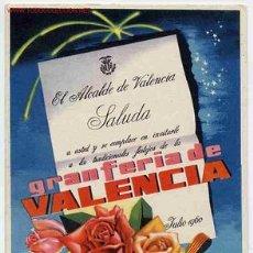 Postales: POSTAL 90 PUBLICIDAD FERIA VALENCIA 1960. Lote 26457948