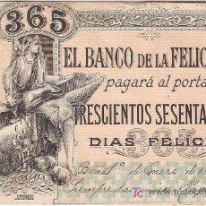 Postales: TARJETA POSTAL DE PUBLICIDAD, BANCO DE LA FELICIDAD. A. MORAGAS. Lote 24745384