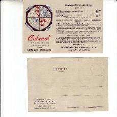 Postales: POSTAL PUBLICITARIO -COLENOL . Lote 3420360
