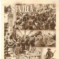 Postales: SEVILLA FERIA DE ABRIL. . Lote 3896424