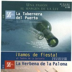 Postales: 3 POSTALES PUBLICITARIAS DE ZARZUELA. Lote 4069144