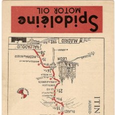 Postales: ITINERARIO 46. MADRID - OVIEDO - GIJON 291 KM.. SPIDOLEINE MOTOR OIL. 16 X 10 CM.. Lote 4204487