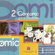 Postales: POSTAL PUBLICITARIA DEL 2º CONCURSO DE CÓMICS PARA JÓVENES DE LAS PALMAS DE GRAN CANARIA.. Lote 24200451