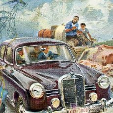 Postales: POSTAL PUBLICITARIA DEL COCHE MERCEDES BENZ MODELO, 180. Lote 4769313