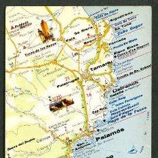 Postales: POSTALES TURÍSTICAS FIRESTONE *MAPA TURÍSTICO COSTA BRAVA: S'AGARÓ - BEGUR* REF. A - 54. NUEVA.. Lote 5191713