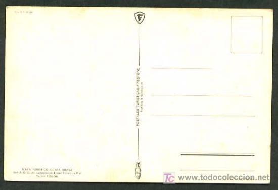 Postales: Postales Turísticas Firestone *Mapa Turístico Costa Brava: Lloret - Tossa de Mar* Ref. A-53. Nueva. - Foto 2 - 5191748