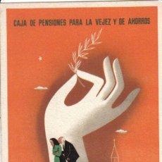 Postales: CAJA PARA LA VEJEZ Y DE AHORROS DE CATALUÑA Y BALEARES AÑOS 50 HOMENAJES A LA VEJEZ. Lote 27615814