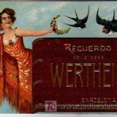 Postales: RECUERDO DE LA CASA WERTHEIM. BARCELONA. DESPLEGABLE. MAQUINAS DE COSER WERTHEIM. . Lote 5340344