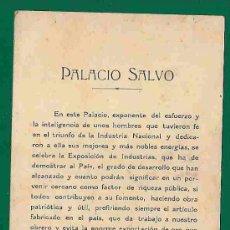 Postales: TARJETA CON PUBLICIDAD CIGARROS Y TOSCANO -CADORNA- C/1910 - FRENTE VISTA PALACIO SALVO MONTEVIDEO. Lote 20966414