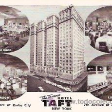 Postales: POSTAL PUBLICITARIA. THE FAMOUS HOTEL TAFT NEW YORK. Lote 6901908