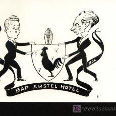 Postales: BAR AMSTEL HOTEL. Lote 6420018