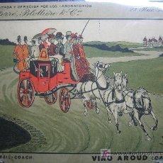Postales: ANTIGUA POSTAL. PUBLICIDAD FARMACEUTICA. VINO AROUD. PARIS. Lote 22450131