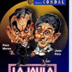Postales: POSTAL COMERCIAL LA JAULA DE LAS LOCAS PACO MORÁN JOAN PERA TEATRE CONDAL BARCELONA. Lote 7316650
