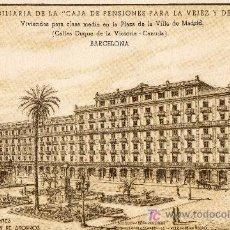 Postales: CAIXA PENSIONS. BANCO. PLAZA DE LA VILLA DE MADRID. LA CAIXA. POSTAL. PUBLICIDAD. PENSIONES.. Lote 26512250