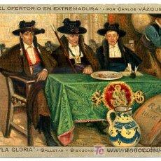 Postales: POSTAL PUBLICIDAD GALLETAS Y BIZCOCHOS LA GLORIA , CROMO, P16402. Lote 26410729