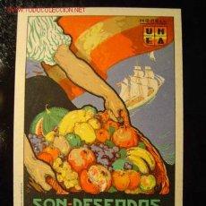 Postales: UNEA - SON DESEADAS EN TODO EL MUNDO, ILUSTR: MORELL. Lote 91702875